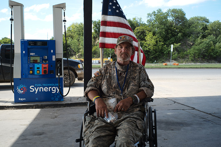 Homeless Soldier in Fort Worth/Texas